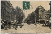 CP 75 Paris - Boulevard Ornano - Le Marché
