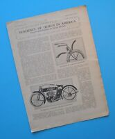 1913 Indian Pope Thor Limited Reading Standard Harley Merkel Motorcycle Article