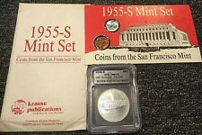 2006-S $1 Silver Commemorative SF Old Mint GRANITE LADY + 1955-S 10c 1c Mint Set