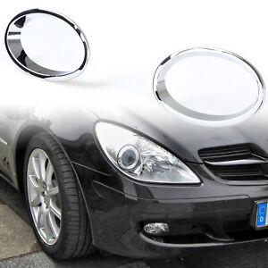 Chrome Molding Front fog light Lamp Cover Trim For 04-08 Mercedes Benz SLK R171
