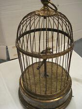seltene antike Singvogel Automat Spieldose Bontems Frankreich singing bird cage