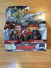 Marvel Minimates CAPTAIN AMERICA & THOR TRU Avengers 2 Age Of Ultron Movie