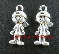 90pcs Tibetan Silver Little Boy Charms Pendants 16x10mm zn29151