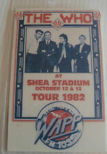 THE WHO Laminated Repro Backstage Tour Pass (1982 SHEA STADIUM)