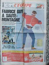 L'Equipe du 11/2/1992 - Fabrice Guy - Marseille
