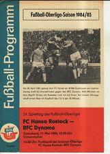 OL 84/85  FC Hansa Rostock - BFC Dynamo Berlin