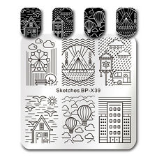 Square Nail Art Stamping Template Sketches Painting Image Plate DIY BP-X39 6*6cm