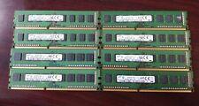 8GB (2x4GB) 1Rx8 PC3-12800U DDR3 RAM - Samsung matched pair
