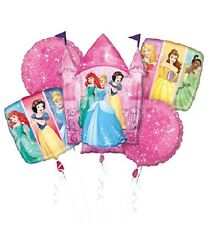 NEW Disney Princesses Mylar Birthday Party Favor Supplies Balloon Bouquet 5pc~