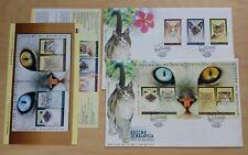 1999 Malaysia Cats, 3v Stamps & 1 pair Mini-sheets on 2 FDC (Melaka Cachet)