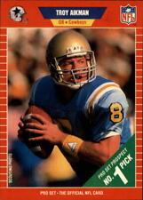 1989 Pro Set #490 Troy Aikman COWBOYS Rookie Card