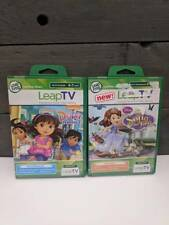 Leap Frog Leap TV Lot of 2 NEW Video Games Sofia The First, Dora And Friends