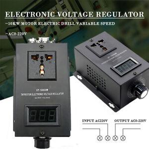 10000W 0-220V Electronic Voltage Regulator Speed Temperature Adjust Controllers