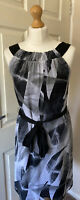 Summer Dress Black White & Grey Size 10 Lined