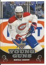 2017-18 UD Upper Deck P.K. Subban Young Guns 10th Anniversary Tribute Card