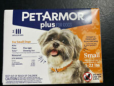 PetArmor Plus Flea and Tick Prevention for Small Dogs 5-22 lbs 3 applications