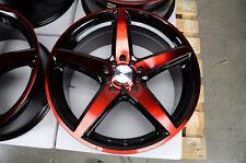 17 5x114.3 5x100 Red Effect Wheels Fits Camry TL Acura Altima Maxima 5 Lug Rims
