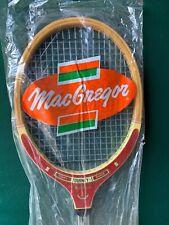 vtg NOS MacGregor TOURNEY-1 wood double metal golf shaft tennis racquet w/ cover