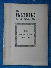 The Solid Gold Cadillac - Music Box Theatre Playbill - August 30th, 1954 - Smith