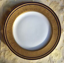 Rosenthal 1922 cabinet plate. Large encrusted gold band and cobalt blue trims.