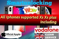 Vodafone UK IPHONE 6 6S plus  7 7 plus  8 8 8 plus UNLOCKING 30 Days only IMEI