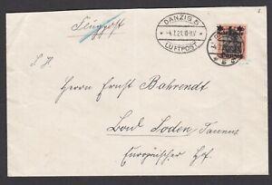 Germany. Danzig. 1921 Luftpost Cover to Berlin?