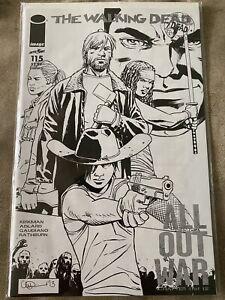 Image Comics WALKING DEAD #115N B&W COVER ONE PER STORE VARIANT