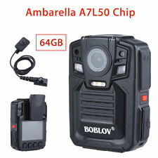 HD 1290P Police Recorder Body Worn Camera Wide Angle Infrared Pocket DVR 64GB