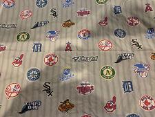 Pottery Barn Teen PB Teen Baseball MLB Gray Striped Pillowcase American League