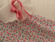 Beautiful Pink & Lilac Floral Clipped Spot Cotton Voile Fabric -140cmx1/2 metre