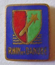 Insigne Boutonnière RHIN ET DANUBE 1° ARMEE DE LATTRE LIBERATION 1944/1945 N° 6