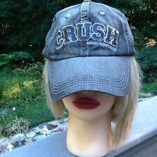 Crush~Smash Resistance~faded black denim baseball cap hat~Univ. of Cal Berkeley