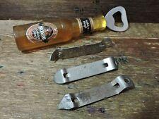 old Lot 4 Vintage Michelob Prager Schlitz Hamms  Beer Can Bottle Opener Lot USA