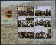 Lithuania millenary stamp sheet, 2008, Lithuania, 6 stamp sheet, MNH