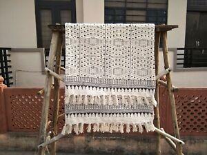 Block Print Mud Cloth Blanket Boho Chair Throw Indian Décor Bedroom Handmade