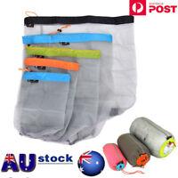 Sizes Tavel Camping Sports Ultralight Mesh Stuff Sacks Drawstring Storage Bag