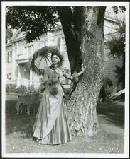LAUREN BACALL VICTORIAN DRESS + PARASOL Original 1950 Photo by WOODS BRIGHT LEAF