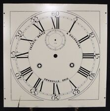 CUSTOM large grandfather CLOCK FACE metal Dial SCREEN PRINTED ESTATE SALE USA