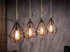 VIKTOR Hängelampe Hängeleuchte Metallschirme Industrial Design Antik 4 Leuchten