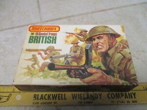 VTG Matchbox Plastic Model Kit Army Men Soldiers 1/32 WWII British Combat P-6002