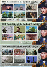 Solomon Isl 2005 MNH Battle of Trafalgar Nelson Napoleon 4x 6v M/S Ships Stamps