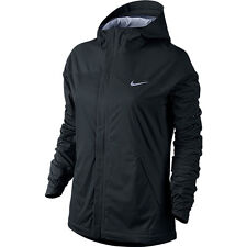 NIKE SHIELDRUNNER WOMENS RUNNING JACKET SIZE L LARGE BLACK PERFORMANCE TOP