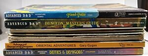 Lot/Collection of 10 RPG Books MUSTY AD&D DMG FF Deities Demigods G1-2-4 more OA
