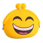 Cute Women Girl Mini Emoji Key Coin Purse Case Silicone Bag Wallet Handbag