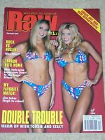 WWE MAGAZINE RAW DECEMBER 2001 WRESTLING TORRIE WILSON & STACY KEIBLER COVER WWF