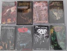 DEATH METAL PAKET - 8x KASSETTEN / TAPES - NEW/NEU neue AUSWAHL !