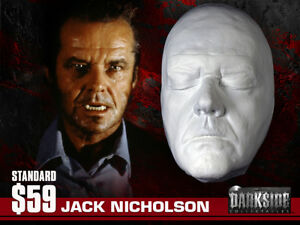 JACK NICHOLSON (WOLF) LIFE-SIZE LIFEMASK Life Cast in Lightweight Resin