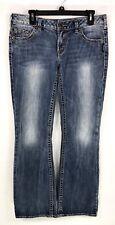Silver Jeans Aiko Bootcut Jeans Womens Size W31 L31 Blue Distressed Denim