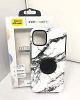 "Otterbox Otter+Pop Symmetry Case for iPhone 11 Pro Max 6.5"" Black White Marble"
