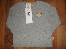 Steiff Gr.:  68 6 M TOP LA Langarm Shirt grau süß Teddy Junge NEU Pullover Bär